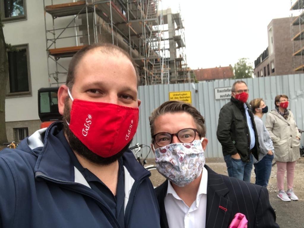 Beim Stadtteilrundgang dabei: unser Bezirksratsfraktionsvorsitzender Martin Fulst und Bezirksbürgermeister Henning Hofmann