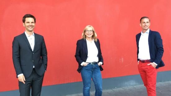 Steffen Krach mit Petra Rudszuck und Angelo Alter
