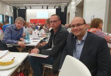 Unsere Delegation zum Unterbezirksparteitag: Eckart Galas, Marc-Dietrich Ohse und Andreas Hammerschmidt