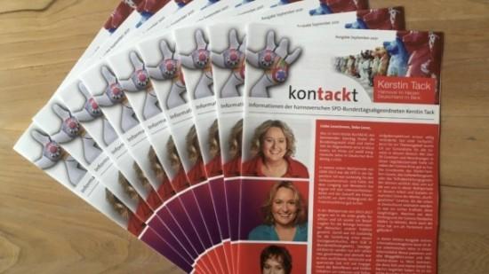 """Das Titelblatt des neuen """"konTACKt"""""""