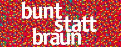 "Logo des Bündnisses ""bunt statt braun"""