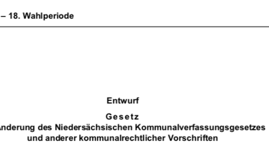 Drucksache 18/9075 des Niedersächsischen Landtages: Die Novelle des NKomVG