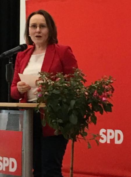 Die neue Unterbezirksvorsitzende Claudia Schüßler