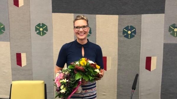 Johanna Starke nach ihrer Wahl zur Bezirksbürgermeisterin