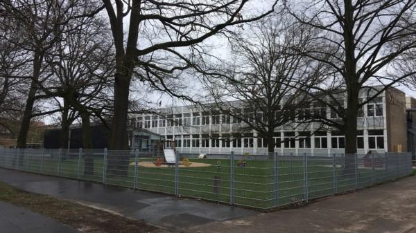 Die Grundschule Buchholz-Kleefeld II am aktuellen Standort in der Nackenberger Straße